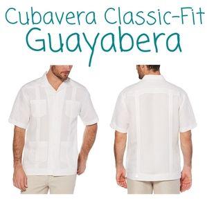 🏝 NWT‼️Cubavera brand Guayabera Button-Down Shirt